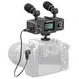 Saramonic CaMixer с DSLR камерой